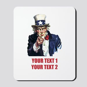 [Your text] Uncle Sam 2 Mousepad